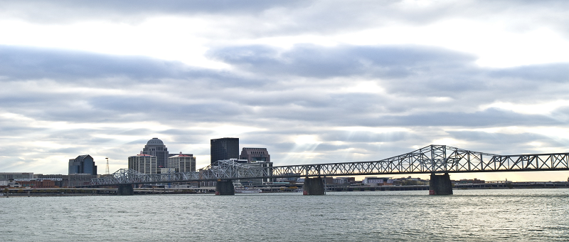 Downtown Louisville Bridge over Ohio River